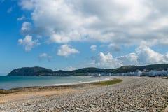 Llandudno Sea Front in North Wales, United Kingdom. Beautiful Summer Day in Llandudno Sea Front in North Wales, United Kingdom royalty free stock images