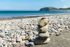 Llandudno Sea Front in North Wales, United Kingdom. Stone Pyramid on Beautiful Summer Day in  Llandudno Sea Front in North Wales, United Kingdom Royalty Free Stock Photo