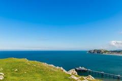 Llandudno-See-Front in Nord-Wales, Vereinigtes Königreich Lizenzfreie Stockfotografie