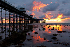 Llandudno Sunrise Stock Photo