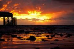 Llandudno Sunrise Stock Image