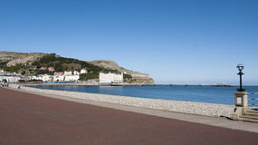 Llandudno in Wales UK. The promenade in Llandudno with Great Orme in distance Wales UK Stock Photos