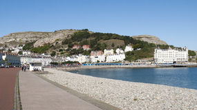 Llandudno in Wales UK. The promenade in Llandudno with Great Orme in distance Wales UK Stock Photo