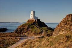 Llandwyn Island Lighthouse Royalty Free Stock Photography