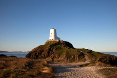 Llandwyn Island Lighthouse Stock Photo