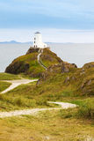 Llandwyn lighthouse, Anglesey, North Wales Royalty Free Stock Images