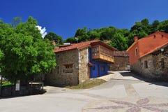 Llanes χωριό, Sobrescobio, αστουρίες, Ισπανία Στοκ Φωτογραφία