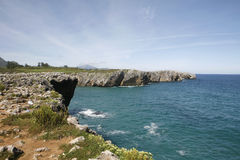 Llanes in Asturias Coast Royalty Free Stock Photos