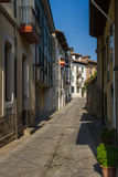 Llanes in Asturias Street. Spain Royalty Free Stock Photos