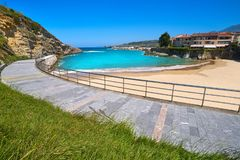 Free Llanes El Sablon Beach In Asturias Spain Stock Image - 127175661