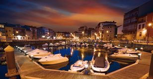 Free Llanes Marina Port Sunset In Asturias Spain Stock Image - 127175781