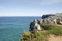 Llanes nel litorale dell'Asturia Fotografia Stock Libera da Diritti