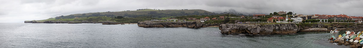 Llanes panoramic view Royalty Free Stock Image