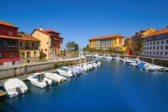 Free Llanes Village Port Marina In Asturias Spain Stock Image - 127175581