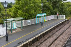 Llanfair PG dworzec zdjęcia stock