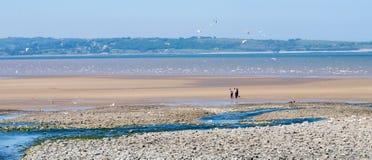 Llanfairfechan海滩 免版税库存图片