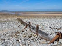 Llanfairfechan strand fotografering för bildbyråer
