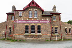 Llanfairpwllgwyngyll staci kolejowej znak Fotografia Royalty Free