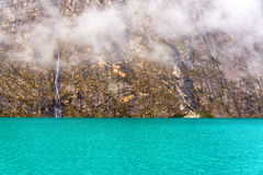 Llanganuco Lake in Peru Stock Photo