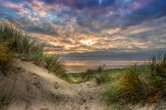 Llangennith海滩Gower 图库摄影