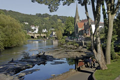 Llangollan. Is a small Welsh town on the river Dee in Wales, UK Royalty Free Stock Photography