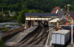 Llangollen сохранило железнодорожный вокзал Стоковые Изображения RF