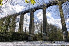 Llangollen Aquaduct, norr Wales Royaltyfri Foto