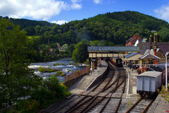 Llangollen Bewaard Station royalty-vrije stock afbeelding