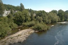 llangollen floden royaltyfri foto
