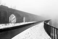 Llangollen kanał w zimie Zdjęcia Stock