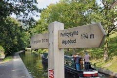 Llangollen Kanal stockfotografie