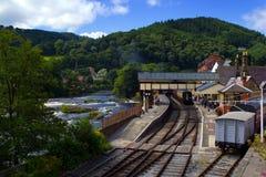 Llangollen preservó el ferrocarril imagen de archivo libre de regalías