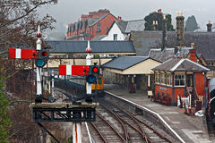 Llangollen railway station, Denbighshire, Wales, UK. Royalty Free Stock Image