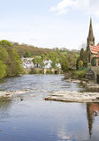 Llangollen and river Dee Royalty Free Stock Image