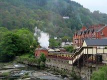 Llangollen steam railway, Denbigshire in Wales stock image