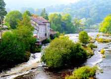 Llangollen, Wales, along the River Dee royalty free stock photos