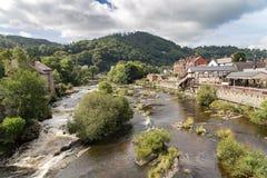 Llangollen Wales, UK Arkivbilder