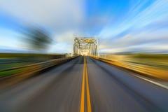 Llano Bridge Texas motion blur Royalty Free Stock Images