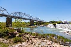 Llano Texas Bridge Foto de archivo libre de regalías
