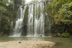 Llanos de Cortés Waterfall and Beach Royalty Free Stock Image