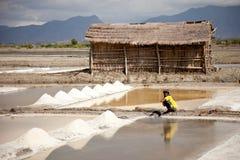 Llanos de la sal de Sumbawa Imagen de archivo libre de regalías