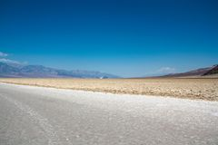 Llanos de la sal en el lavabo de Badwater, Death Valley, Nevada Imagen de archivo