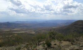 Llanos del valle de dislocación Foto de archivo