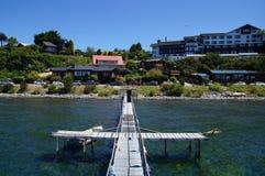 Llanquihue lake Deck at Puerto Varas Stock Photo