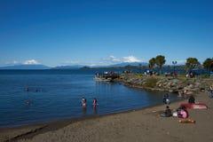 Llanquihuemeer - Puerto Varas - Chili royalty-vrije stock fotografie