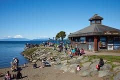 Llanquihuemeer - Puerto Varas - Chili stock foto