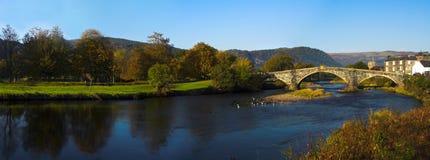 Llanrwst Brücke Wales Stockbild