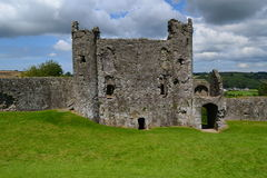 Llansteffan castle Stock Photography
