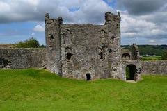 Llansteffan slott Arkivbild