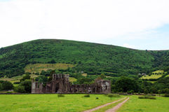 Llanthony priory in Brecon Beacons Royalty Free Stock Image